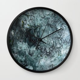 Green Pour Wall Clock