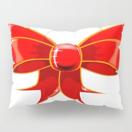 Isolated Red Ribbon Pillow Sham