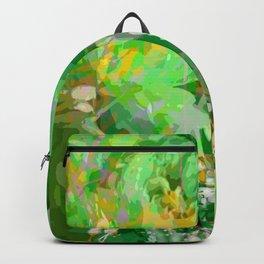 Beautiful green flowers Backpack