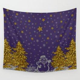 Beautiful glitter New Year Wall Tapestry