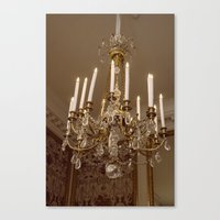 chandelier Canvas Prints featuring Chandelier by Pati Designs & Photography