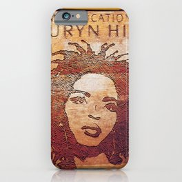 Vectorized Illustration Art Design The Big Miseducation of Her Vectored,Hill-43400 by Hand Illustrated,Lauryn-1998 August 25 Design iPhone Case