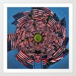 US Flags Art Print