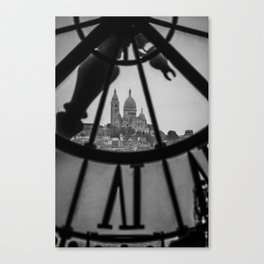 View of Montmartre from Musee D'Orsay Canvas Print