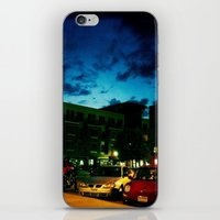 fargo iPhone & iPod Skins featuring Fargo City Nights One, 2011 by Libby Walkup Photography