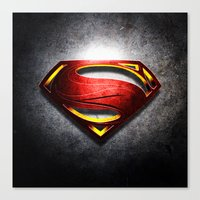 man of steel Canvas Prints featuring Man of Steel by bimorecreative