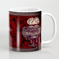 gothic Mugs featuring Gothic Twins by AKIKO