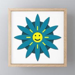 Smiley flower Framed Mini Art Print