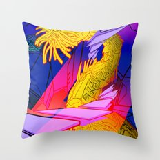 AUTOMATIC WORM 7 Throw Pillow