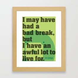 Bad Break Framed Art Print