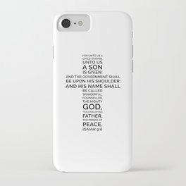 Unto Us - Cross Scripture iPhone Case
