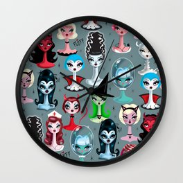 Spooky Dolls Wall Clock