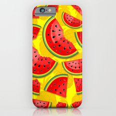 Watermelon and Pineapple Juicy Pattern iPhone 6s Slim Case
