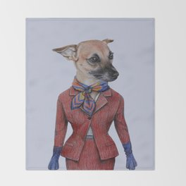 dog in uniform Throw Blanket