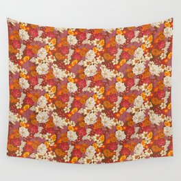 Retro Floral I Wall Tapestry