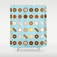 donuts Shower Curtains featuring Donuts by Dorothy Leigh