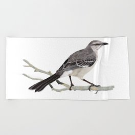 Northern mockingbird - Cenzontle - Mimus polyglottos Beach Towel