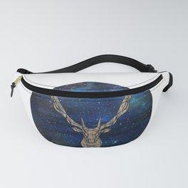 Geometric Space Elk Fanny Pack