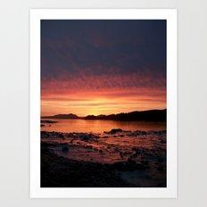 Frozen Sunset Art Print