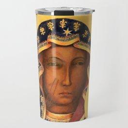 Virgin Mary Our Lady of Czestochowa Catholic wall art Religious Christmas Gift Travel Mug