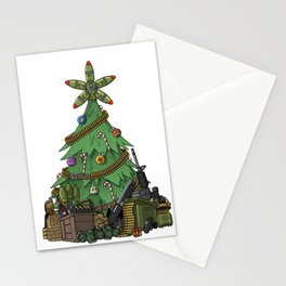 Military Christmas Tree Gift Stationery Cards