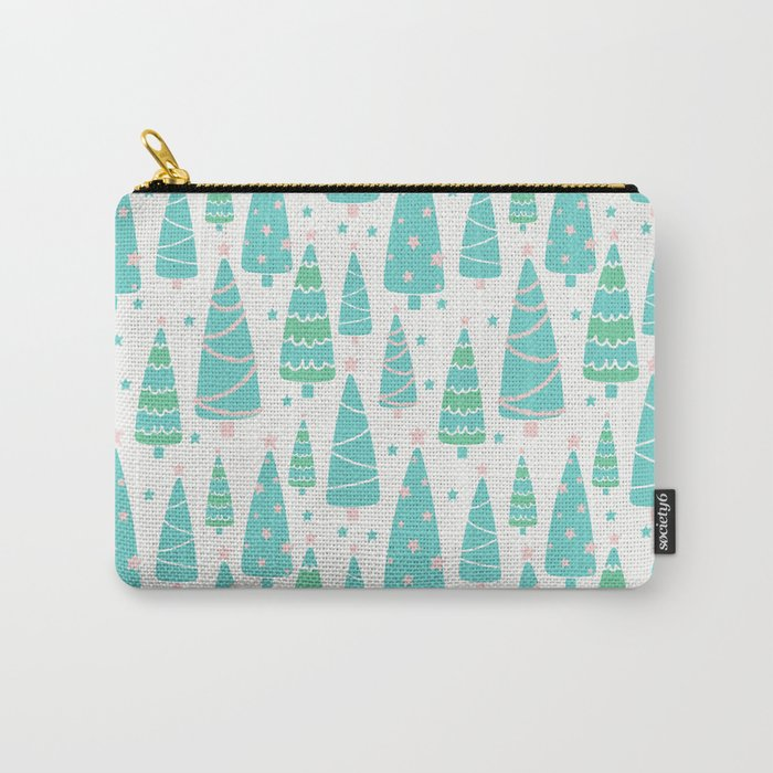 Pastel Christmas Tree Forest Carry-All Pouch
