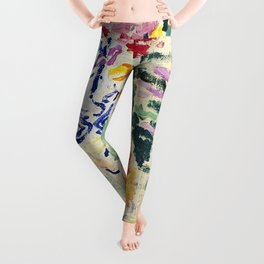 Abstract Colour by Henri Matisse Leggings