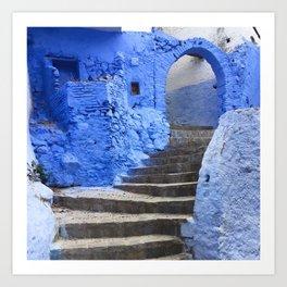Blue Blissway Art Print