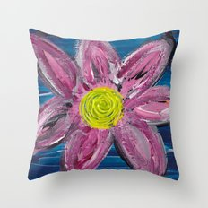 Statement Flower Throw Pillow