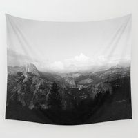 yosemite Wall Tapestries featuring Yosemite by Leah Flores
