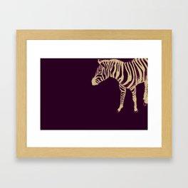 Drawing of a zebra. Illustration Framed Art Print