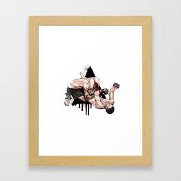 Nate Diaz vs. Kurt Pellegrino Framed Art Print
