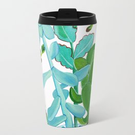 Indian Pot with Succulents Travel Mug
