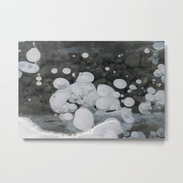 Frozen Ice Bubbles Metal Print
