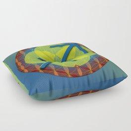 Flower of Life SAGITTARIUS Astrology Design Floor Pillow