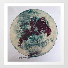 Gelli Grapes Art Print