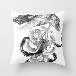 Soul of a Raven Throw Pillow