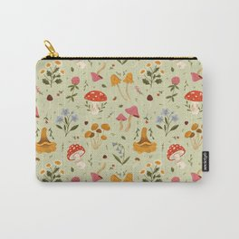 Mushrooms and Wildflowers Carry-All Pouch