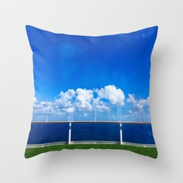 Cruise Ship Lawn Area Throw Pillow