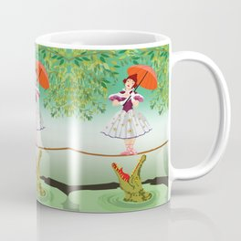 The Umbella girl With crocodile Coffee Mug