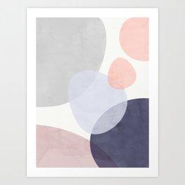 Pastel Shapes III Art Print