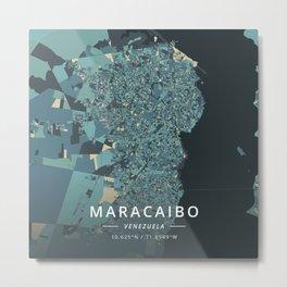 Maracaibo, Venezuela - Cream Blue Metal Print