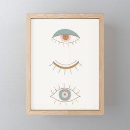 Evil Eyes II Framed Mini Art Print