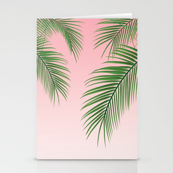 palm tree leaves stationery cards by crnicole society6
