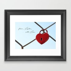 From Lisbon with Love Framed Art Print