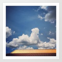 Minimalist Rooftop Art Print