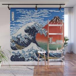 "Hokusai ""The Great Wave off Kanagawa"" & ""Fine Wind, Clear Morning"" Wall Mural"