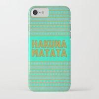 hakuna iPhone & iPod Cases featuring Hakuna Matata by M Studio
