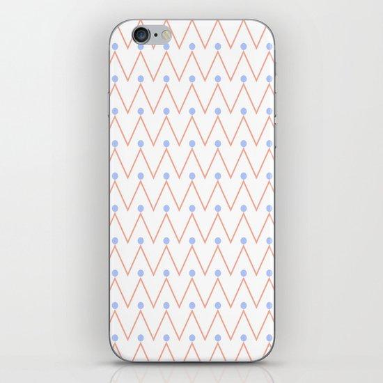Chevron and dots 2 iPhone & iPod Skin