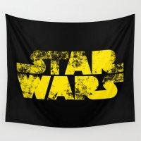 starwars Wall Tapestries featuring StarWars  by WaXaVeJu